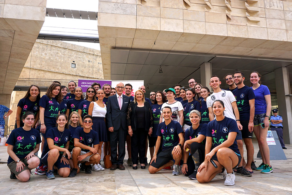 Photograph of World PT Day 2018 celebration in Malta