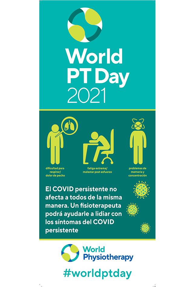 Gambar spanduk Hari PT Sedunia 2021 dalam bahasa Spanyol