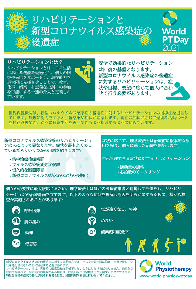 World PT Day information sheet 2. Japanese