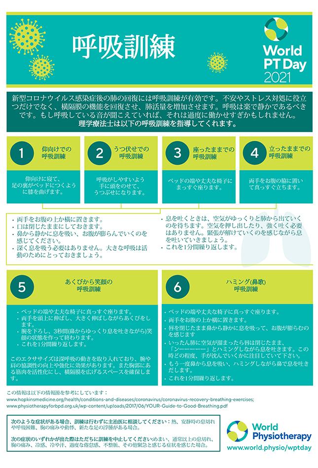 World PT Day information sheet 5. Japanese