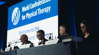 Photograph from WCPT general meeting 2019 in Geneva