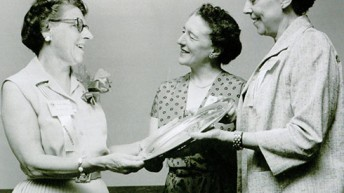 Photograph from World Physiotherapy 1956 congress in New York