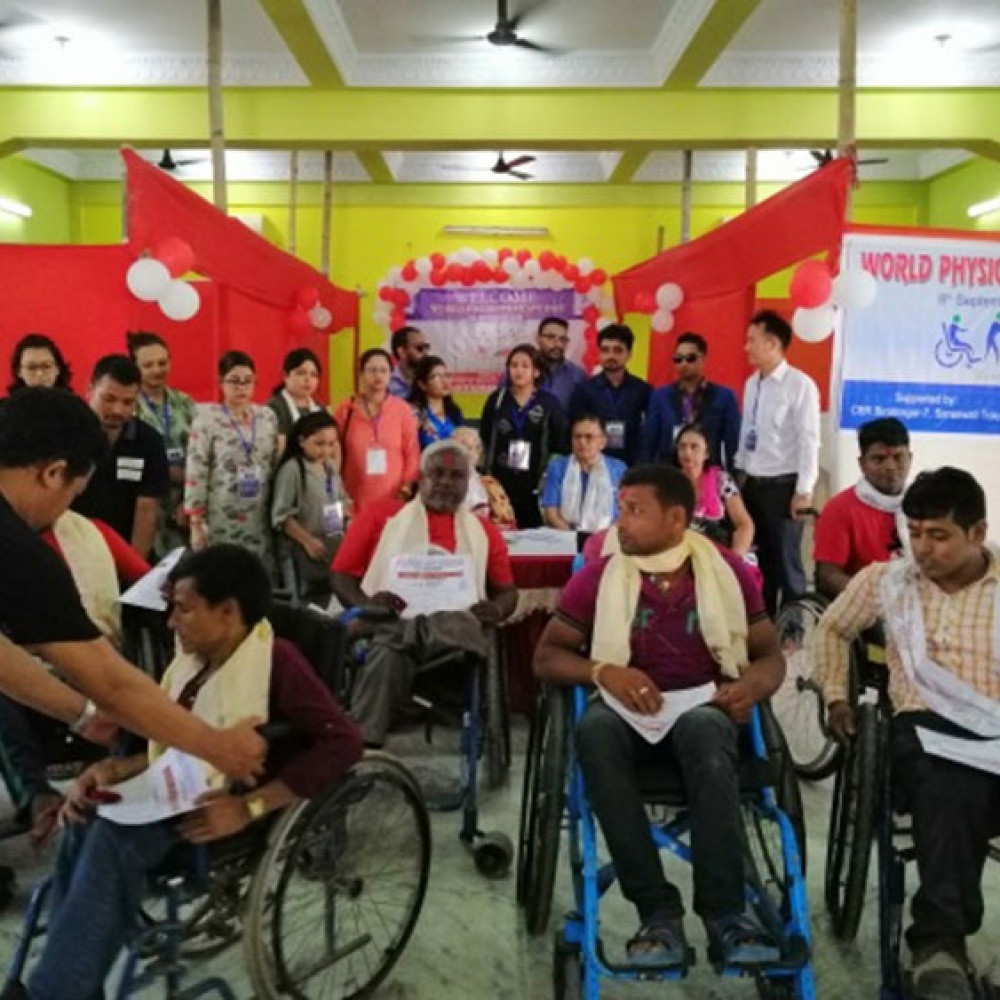 Photograph of World PT Day 2018 celebration in Nepal
