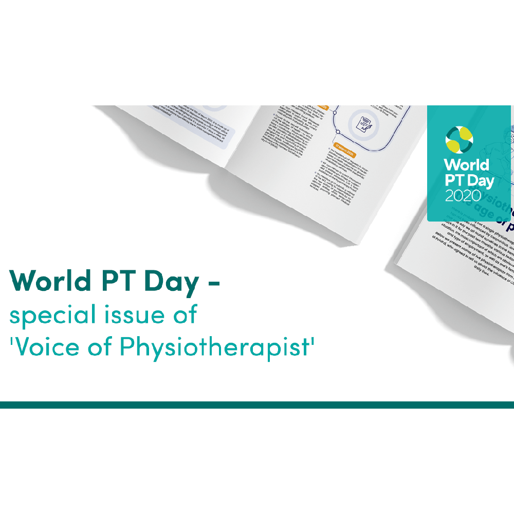 Image of bulletin produced by Polish Chamber of Physiotherapists to mark World PT Day 2020