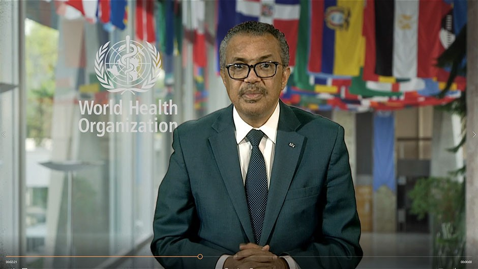 Dr Tedros Adhanom Ghebreyesus, WHO director general, speaking at opening session