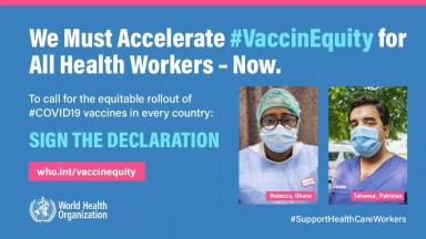 WHO vaccine equity campaign