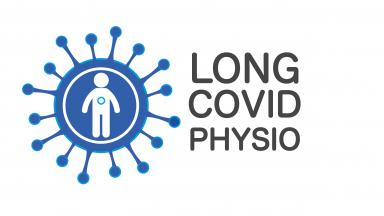 Logo COVID Physio yang panjang